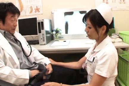 Chihiro uehara. Chihiro Uehara Asian nurse doc penis and other nurse comes in