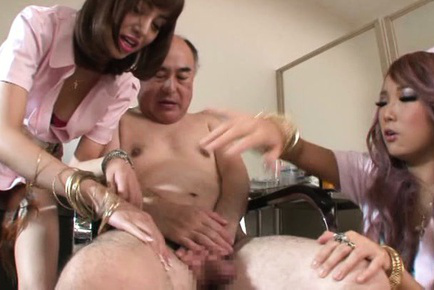 Mao miyabi. Mao Miyabi Asian and nurse with exciting legs touch patient all over