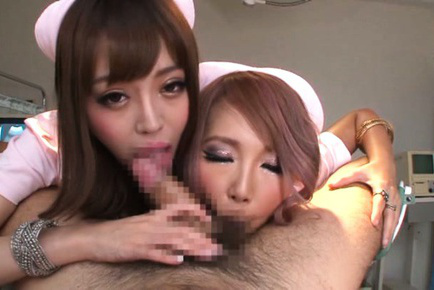 Mao miyabi. Mao Miyabi Asian and nurse gulp balls and lick