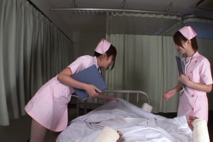 Ayu sakurai. Ayu Sakurai Asian and other nurse blow ill man