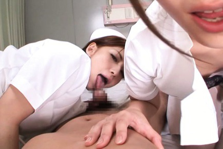 Ayu sakurai. Ayu Sakurai Asian and nurse rub stockings to ride patient penis