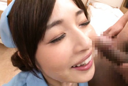 Saya niiyama. Saya Niiyama Asian nurse gets cumshot on face after gulp penis