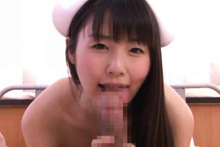 Tsubomi. Tsubomi Asian nurse shows hairy nooky and licks patient
