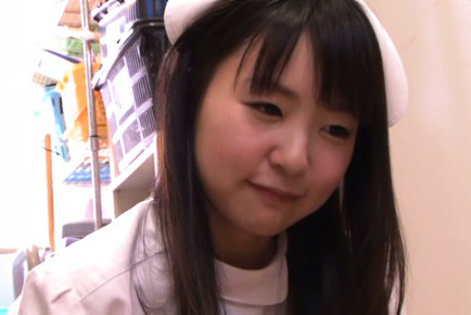 Tsubomi. Tsubomi Asian nurse licks and takes penish in mouth in