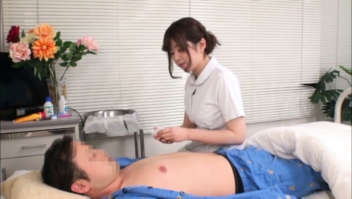 Kaho. Kaho Asian nurse strokes and blowjob patient