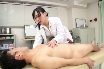 Amateur. Amateur Asian nurse with specs suc boner till gets
