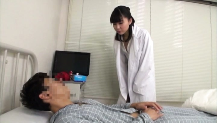 Amateur. Amateur Asian nurse watches patient rubbing his cock