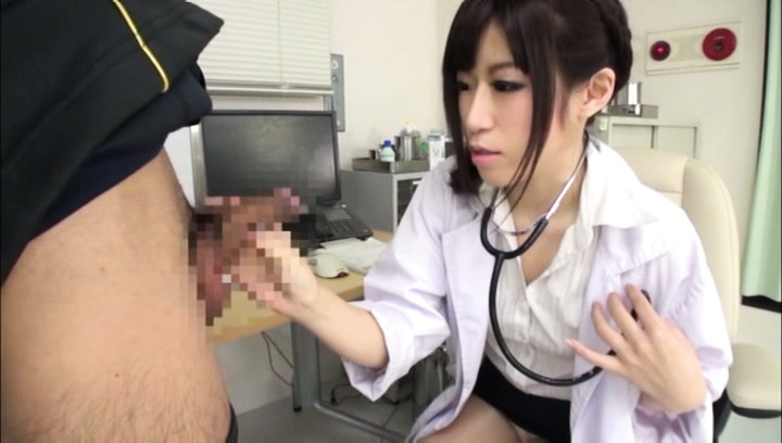 Amateur. Amateur Asian doctor examines patient penis