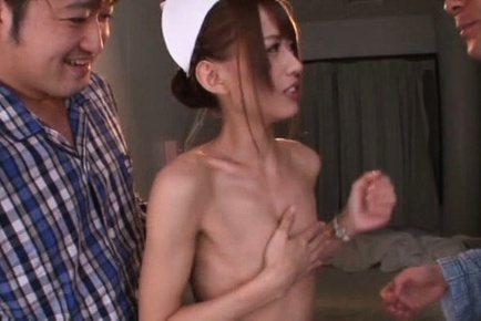Airi kijima. Airi Kijima Asian nurse is undressed of uniform by horny patients